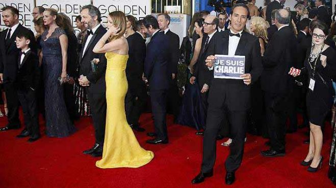 Golden Globe. L'omaggio di Hollywood a Charlie Hebdo. VIDEO