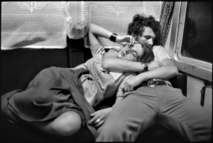 "Henri Cartier-Bresson, ""In a train"""