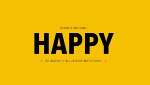 Pharrell William, Happy. Un video clip che dura 24 ore
