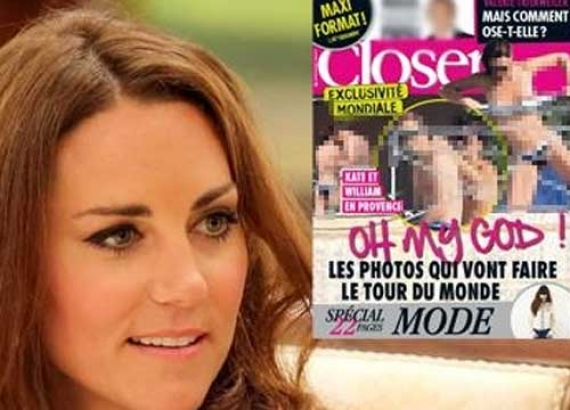 Imbarazzo a Buckingham Palace.  Kate Middleton in topless