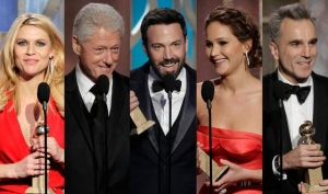 Golden Globe.  Argo batte Lincoln presentato da Bill Clinton