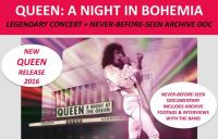 "Cinema. ""Queen A night in Bohemia"" con poster di Freddy Mercury in edizione limitata"