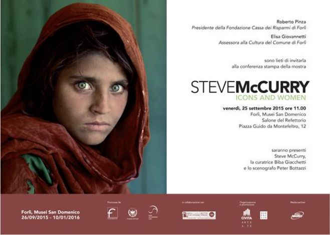 Fotografia. Icons and Women, Steve McCurry a Forlì 26 settembre 2015  – 10 gennaio 2016