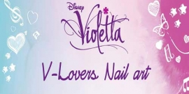 Violetta. Nail art tutorial. Video
